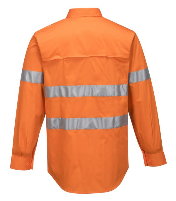 MA301 - Hi-Vis Lightweight Long Sleeve Shirt with Tape - Prime Mover ORG2
