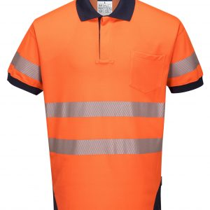 T182 - PW3 Hi-Vis Polo Shirt Short Sleeve ORG1