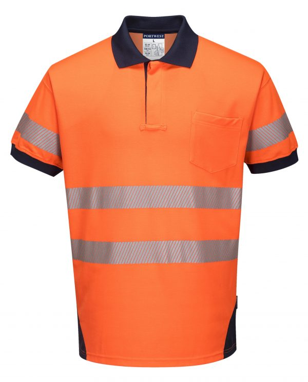 T182 - PW3 Hi-Vis Polo Shirt Short Sleeve ORG1