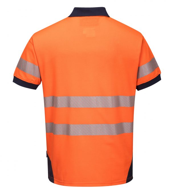 T182 - PW3 Hi-Vis Polo Shirt Short Sleeve ORG2