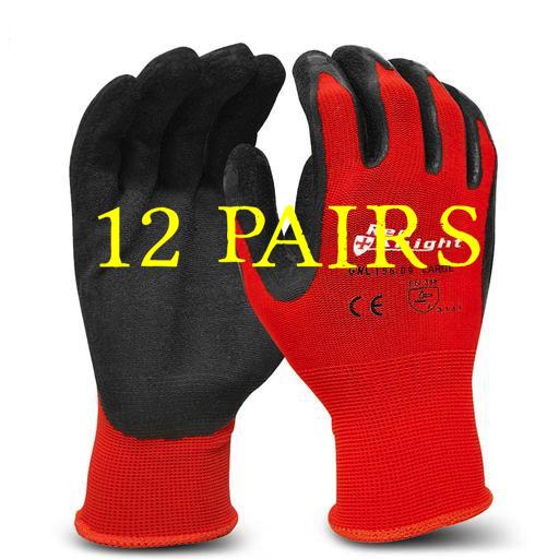 GNL156 - Red Knight Gripmaster Glove 12 Pairs