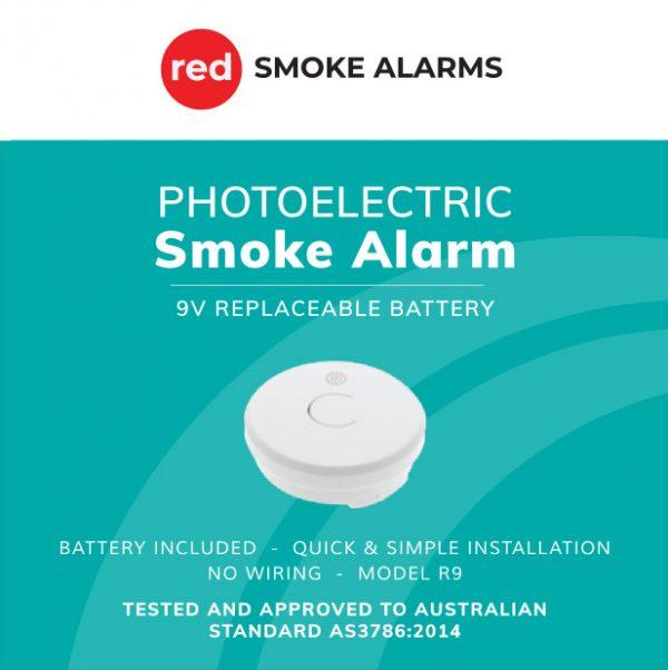 R9-9v battery stand-alone smoke alarm