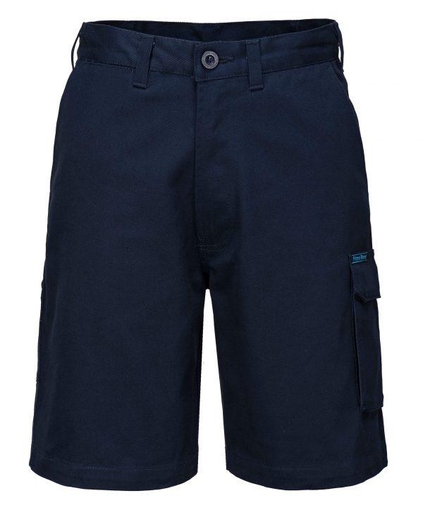 Cotton Drill Cargo Shorts - Prime Mover (MW702) Navy