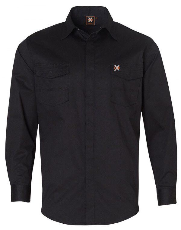 WT10 Mens Stretch Work Shirt Black